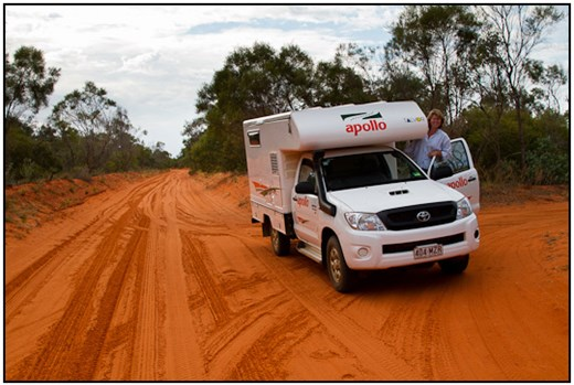 2011-07-13 - Carin in onze 4wd-camper<br/>Broome - Australië<br/>Canon EOS 7D - 24 mm - f/8.0, 0.01 sec, ISO 200